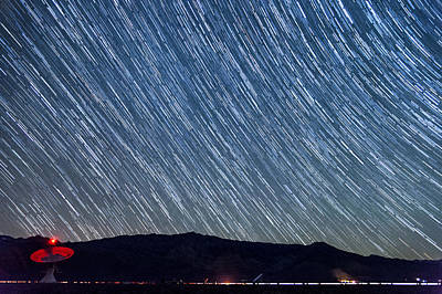 Startrails Photograph - Listening To The Stars by Cat Connor