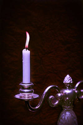 Flicker Photograph - Lit Candle by Amanda Elwell