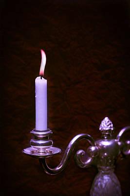 Lit Candle Art Print by Amanda Elwell