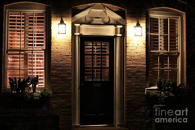 Old School House Photograph - Lit Doorway by John Rizzuto