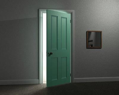 Revelation Photograph - Lit Doorway by Robert Brook