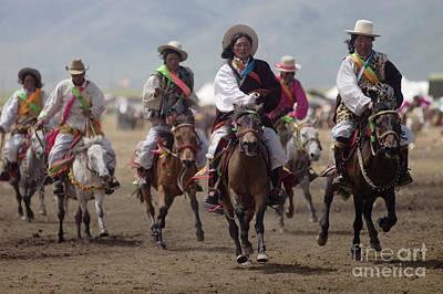 Photograph - Litang Horse Race - Kham Tibet by Craig Lovell