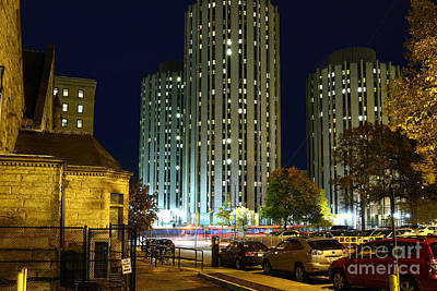 The Main Photograph - Litchfield Towers At Night by Thomas R Fletcher