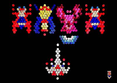 Photograph - Lite Brite - Galaga by Benjamin Yeager