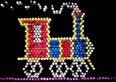 Photograph - Lite Brite - The Choo-choo Train by Benjamin Yeager