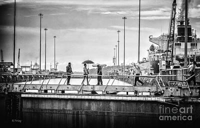 Photograph - Literally Crossing The Panama Canal by Rene Triay Photography