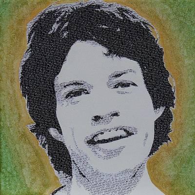 Mick Mixed Media - Literally Mick Jagger by Gary Hogben