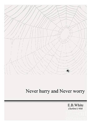Literary Quote- E.b. White - Cw Art Print