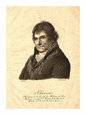 Lithe Drawing - Litho De Berdalle., Head-and-shoulders Portrait Of Francois by English School