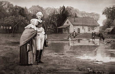 Fournier Painting - Lithograph Of George Washington Walking by Vintage Images