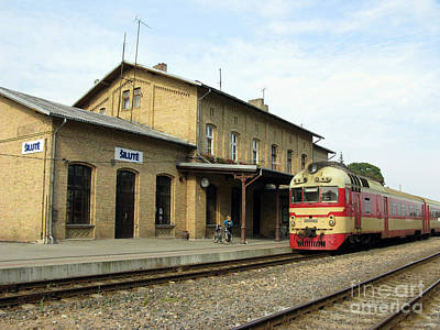 Photograph - Lithuania. Silute Train Station. 2008 by Ausra Huntington nee Paulauskaite