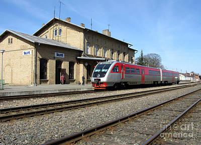 Photograph - Lithuania. Silute Train Station. 2009 by Ausra Huntington nee Paulauskaite
