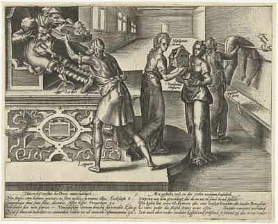 Litigation Devours Money And Property, Hendrick Goltzius Art Print
