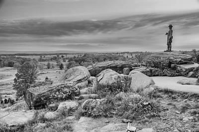 Photograph - Litle Round Top - Gouverneur Warren by Guy Whiteley