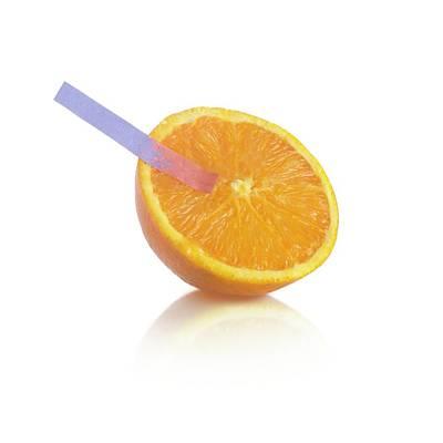 Litmus Paper Test On An Orange Art Print