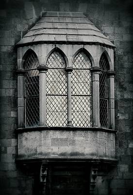 Photograph - Lattice Castle Window by Nadalyn Larsen