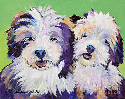 Painting - Litter Mates by Pat Saunders-White