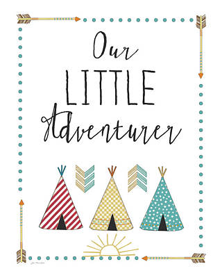 Tipi Painting - Little Adventurer by Jo Moulton
