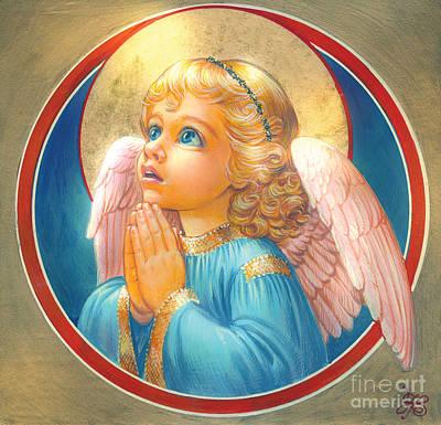 Angel Digital Art - Little Angel by Zorina Baldescu