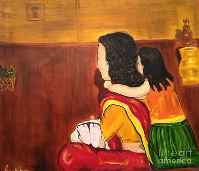 Art Print featuring the painting Little Arms And Tiny Toes by Brindha Naveen