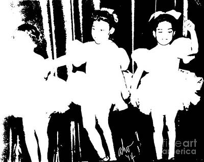 Digital Art - Little Ballerinas by Angela L Walker