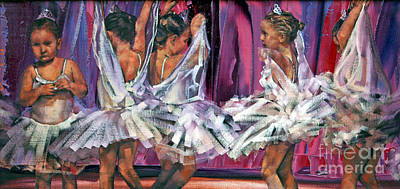 Ballet Painting - Little Ballerinas by Claire McCall