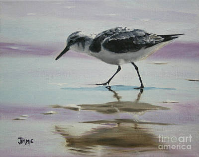 Little Beach Bird Art Print by Jimmie Bartlett