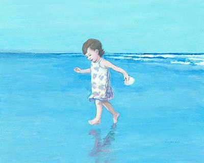 Painting - Little Beach Girl by J Reifsnyder