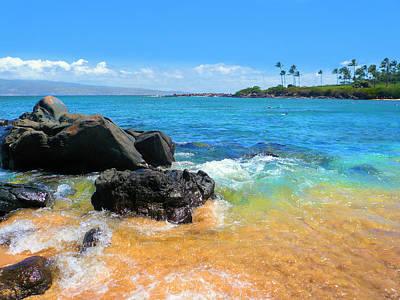 Photograph - Little Beach On Maui by Jane Girardot