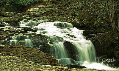 Photograph - Little Bear Creek  Falls 1 by Sally Simon