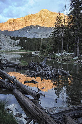 Crestone Photograph - Little Bear Peak Reflection by Aaron Spong