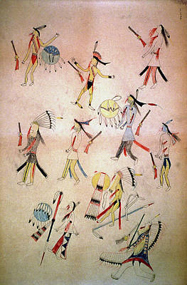 Indian Tribal Art Painting - Little Big Horn by Granger
