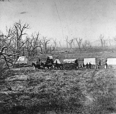 Conestoga Wagon Photograph - Little Bighorn, C1876 by Granger