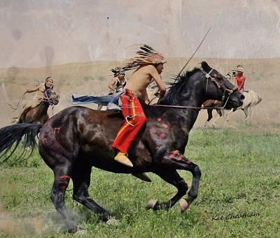 Little Bighorn Reenactment 1 Art Print