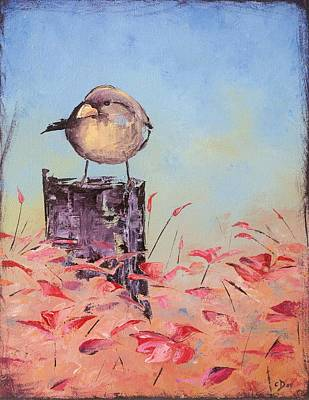 Painting - Little Bird #10 by Carolyn Doe