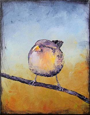 Painting - Little Bird #7 by Carolyn Doe