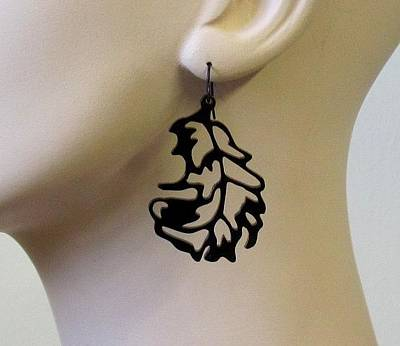 Perspex Jewelry Jewelry - Little Bird Feathers Earrings by Rony Bank