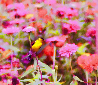Little Birdie In The Spring Art Print by Bill Cannon