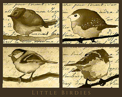 Painting - Little Birdies by Jean Moore