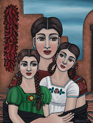 Southwest Indians Painting - Little Birds by Victoria De Almeida