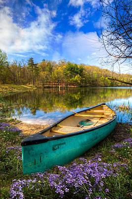 Rowboat Photograph - Little Bit Of Heaven by Debra and Dave Vanderlaan