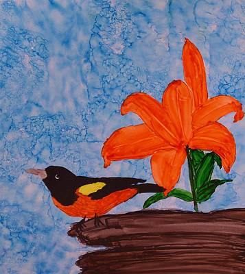 Little Bit Of Orange Art Print by Linda Brown