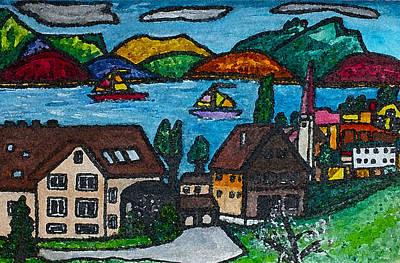 Little Bit Of Swiss Art Print by Monica Engeler