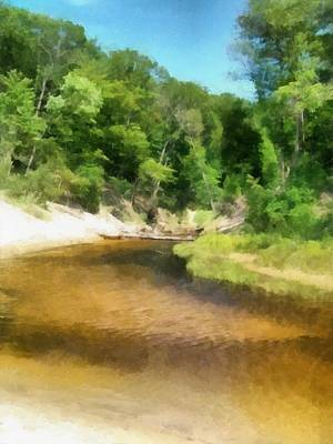 Little Black Creek - Hoffmaster State Park Print by Michelle Calkins
