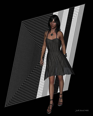 Digital Art - Little Black Dress by Judi Suni Hall