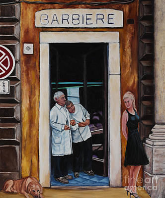 Life In Italy Painting - Little Black Dress by William Cain