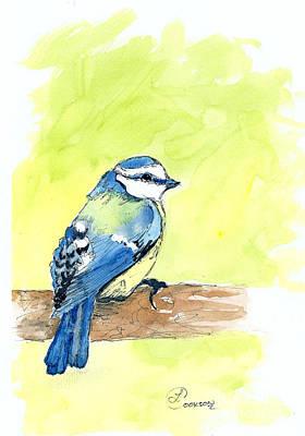 Little Blue Bird Art Print