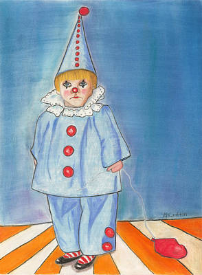 Little Blue Clown Art Print