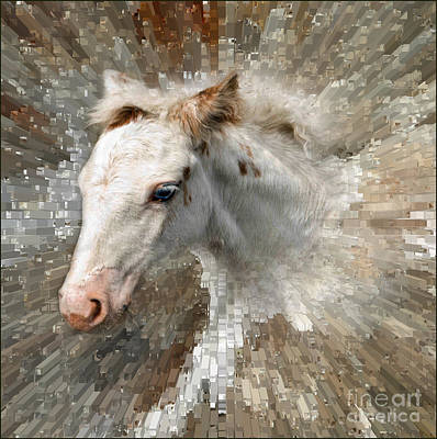 Gypsy Digital Art - Little Blue Eye by Liz  Alderdice