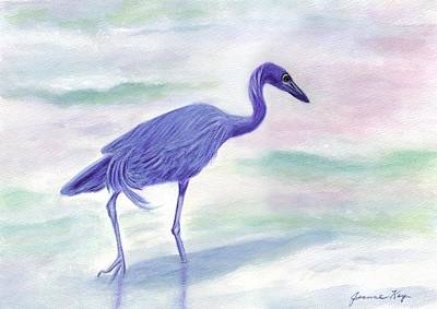 Painting - Little Blue Heron At Sunrise by Jeanne Kay Juhos